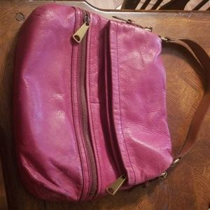 Fossil Burgandy purse. Real leather.